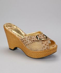 Take a look at this Bronze Amber Wedge by Dezario on #zulily today!  $35 !!