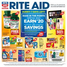 Rite Aid Weekly Ad September 18 - 24, 2016 - http://www.olcatalog.com/grocery/rite-aid-weekly-ad.html