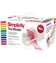 Simplicity The Winder Machine for Bias Tape Maker Little helper machine for bias tape maker, not necessary, just makes it a little easier...