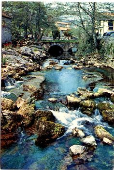 The River Yeo - Cheddar - Somerset - J Arthur Dixon Postcard
