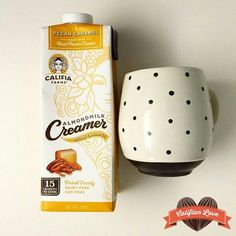 Dessert in your coffee (and it's healthy too)! Califia Pecan Caramel Almondmilk Creamer