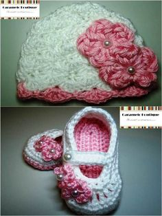 Crochet Baby Girl Hat with Flowers and Pearls----Crochet Baby Girl Beanie Hat with Flowers and Pearls---Sizes from Newborn to Adult. $15.00, via Etsy.