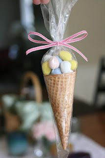 Easter treat or goody bag for an ice cream themed party or shower.