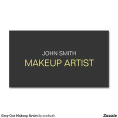 Grey Out Makeup Artist Double-Sided Standard Business Cards (Pack Of 100)