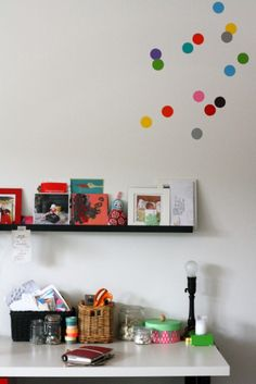 the dot, spots, colour spot, wall decal, vinyl wall