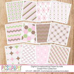 Sweet Pink Digital Papers