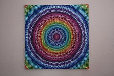 Handpainted large Rainbow mandala on canvas x dot pointillism art Mandalas Drawing, Dot Painting, Acrylic Painting Canvas, Stone Painting, Canvas Art, Pebble Painting, Painted Rocks, Hand Painted, Recycled Crafts