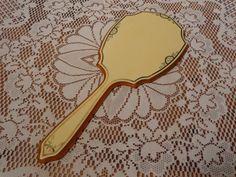 Vintage Bakelite Hand Mirror    Large Bakelite by BubbiesMemories