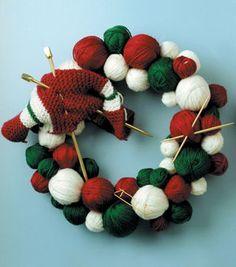 Knitter's Christmas Wreath