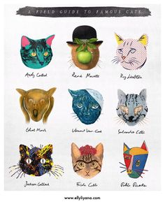 Cats as famous artists