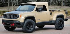 http://chicerman.com  carsthatnevermadeit:  Jeep Comanche 2016. A 50th Annual Easter Jeep Safari concept is a pick-up based on the Jeep Renegade  #cars