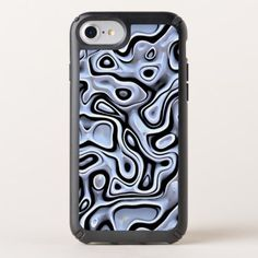Silver Gray Blue Black 3D Liquid Swirls Pattern Speck iPhone Case - #chic gifts diy elegant gift ideas personalize