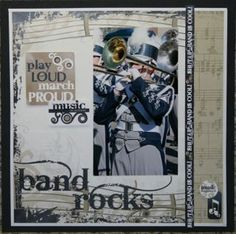 marching band scrapbooking layouts - Google Search