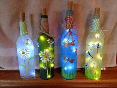 Wine Bottle Vases, Bottle Crafts, Design, Home Decor, Decorated Bottles, Bottles, Xmas, Decoration Home, Room Decor
