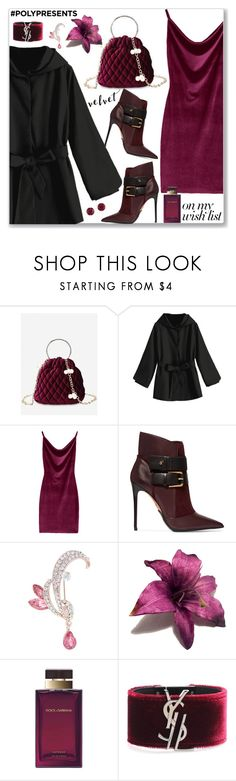 """""""#PolyPresents: Wish List"""" by jecakns ❤ liked on Polyvore featuring Balmain, Dolce&Gabbana, Yves Saint Laurent and Effy Jewelry"""