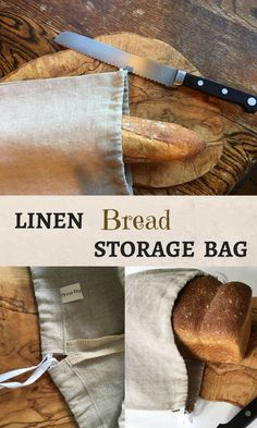 This breathable 100% linen storage bag will keep your bread fresh and last longer. Also helps you to carry your bread from bakery without plastic. #reusable #ecofriendly #zerowaste #affiliate