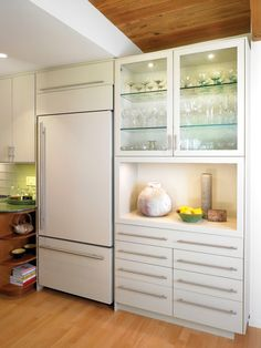 White Refridgerators Design, Pictures, Remodel, Decor and Ideas