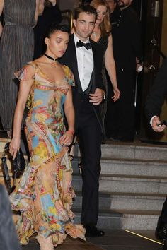 """Robert Pattinson and FKA Twigs are spotted leaving their hotel before the """"Good Time"""" screening duri... - MCvitanovic / Splash News"""