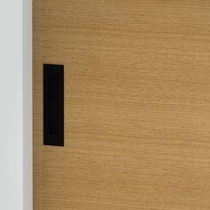 Milos - Flush Pull Handle - 156mm X 42mm - Matte Black (Each) Front Door Handles, Black Door Handles, Black Doors, Matte Black, Bathroom, Washroom, Black Front Doors, Full Bath, Black Door