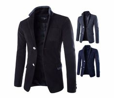 Modern Mens Suit Blazer Autumn and Winter Single Brested Suit jacket