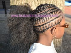 Beads, Braids and Beyond: Mixing the Old with the New - Intricate Cornrows into Side Puff