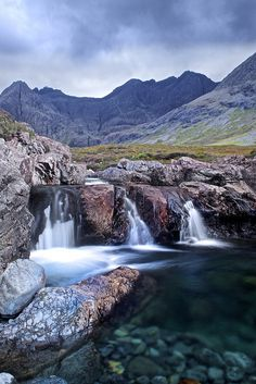 Fairy Pools and The Cuillins, Isle of Skye, Scotland, by Christopher Swan, via Flickr.
