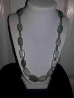 Fancy Jasper and agate gemstone beaded necklace by ILoveBeads247, $16.00