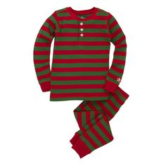 Hatley Red and Green Holiday Stripes Henley Pyjamas £23