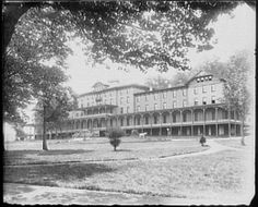 The former Oakland Hotel in 1982... view what remains of this grand hotel during a visit to downtown Oakland, MD near Deep Creek Lake.  Check out a description of the pleasant walk here:  http://tallpinesatdeepcreeklake.com/strolling-through-a-bit-of-oakland-md-history/