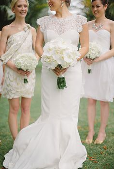 Real Bride The Scalloped Lace Sleeves On Caroline S Nicole Miller Dress Were Just As Lovely