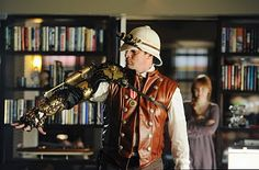Nathan Fillion wearing Steampunk garb on the TV show  Castle.