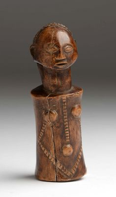 Africa | Doll from the Tabwa people of DR Congo | Wood; light brown patina