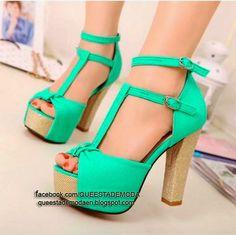 zapatos verde agua brilloso - Buscar con Google