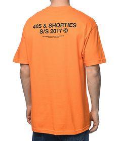 & Shorties General Logo Orange T-Shirt Design Kaos, Shirt Print Design, Tee Shirt Designs, Cool T Shirts, Tee Shirts, Logos Retro, Orange T Shirts, Clothing Logo, Tank Tops