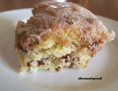 Chocolate Chip Coffee Cake (with a secret!) Recipe from The Country Cook - a favorite food blog!