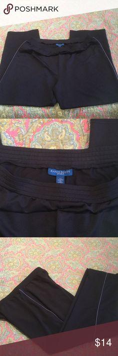 Karen Scott Sport Pants Worn once like new size XL sport pants. Soft and comfortable, 92% Polyester, 8% spandex. From smoke free home Karen Scott Pants