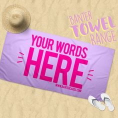 don't freak out but our towels are fucking amazing! Our towels are made from cotton and polyester. They're machine washable degrees & we promise no one will steal your sunbed with one of these bad boys! Wedding Places, Wedding Place Cards, Funny Birthday Gifts, Funny Gifts, Fathers Day Cards, Happy Fathers Day, Name Place Cards, Customised Gifts, Husband Valentine