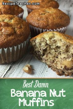 Don t let those overripe bananas go to waste Learn how to make the most delicious banana nut muffins Super easy recipe Easy Bread Recipes, Banana Bread Recipes, Muffin Recipes, Cupcake Recipes, Dessert Recipes, Gourmet Cupcakes, Overripe Banana Recipes, Banana Bread Cupcakes, Banana Nut Bread