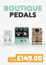Boutique Guitar Pedals are made from the finest components and feature eye-catching pedal designs. These highly collectible guitar pedals are manufactured in small batches, meaning you get a truly unique tone and look for your money