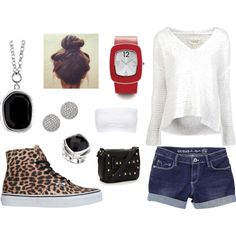 """""""Street wear casual featuring pieces from ELLE Time and Jewelry"""" by elle-jewelry on Polyvore"""