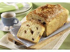 Medový chlebíček s rozinkami a sezamem