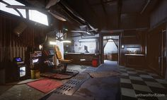 Unreal Engine 4 scene textured with Substance Painter