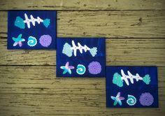 Crochet Wall Art Blue Fish Unique Handmade by DesignsbyPolina