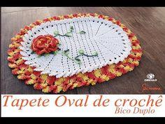 Tapete Oval de Crochê Bico Duplo Parte 1 - Professora Simone - YouTube