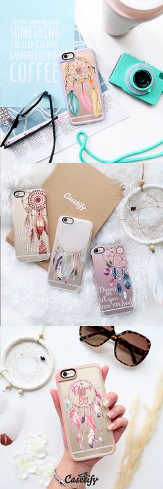 All time favourite dream catcher iPhone 6 protective phone case designs | Click through to see more iphone phone case ideas >>> https://www.casetify.com/collections/iphone-6s-dream-cases#/?device=iphone-6s | @Casetify