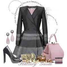 A fashion look from October 2013 featuring Thom Browne, BURAK UYAN pumps and Lulu Guinness handbags. Browse and shop related looks.