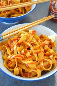 My go-to 5 minute recipe for amazingly simple Chinese Saucy Noodles! The 'sauce'is a perfectly balanced mix ofsalty, spicy, slightly sweet, and even (dare I say) creamy! There's practically no cooking required!!