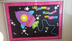 Rocket ship bulletin board