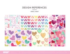 2019 Valentine's Day Trend Themes, Innovations by YAMA design team. Design Reference, Innovation, Valentines Day, Ribbon, Bows, Photo And Video, My Love, Heart, Pink