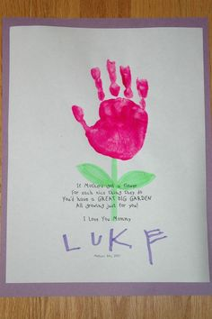 Lukie Preschool project for Mother's Day 2007. | Flickr - Photo Sharing!